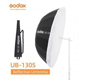 Godox UB-130S 51 zoll 130cm Parabolischen Schwarz Reflektierende Regenschirm Studio Licht Regenschirm mit Schwarz Silber Diffusor Abdeckung Tuch