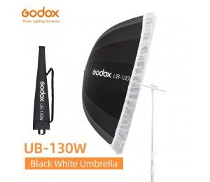 Godox UB-130W 51in 130cm Parabolischen Schwarz Weiß Reflektierende Regenschirm Studio Licht Regenschirm mit Schwarz Silber Diffusor Abdeckung Tuch