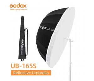 Godox UB-165S 65 zoll 165cm Parabolischen Schwarz Reflektierende Regenschirm Studio Licht Regenschirm mit Schwarz Silber Diffusor Abdeckung Tuch