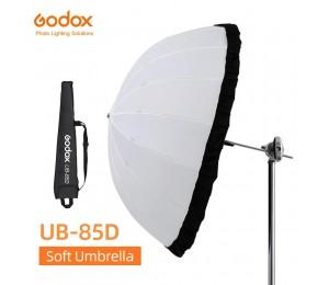 Godox UB-85D 85cm Weiß Parabolischen Reflektierende Transparent Weiche Umbrella Studio Licht Regenschirm mit Schwarz Silber Diffusor Abdeckung