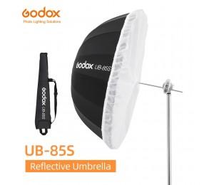 Godox UB-85S 33,5 zoll 85cm Parabolischen Schwarz Reflektierende Regenschirm Studio Licht Regenschirm mit Schwarz Silber Diffusor Abdeckung Tuch