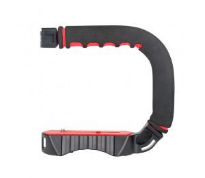 Ulanzi U-Grip Pro Kamera Stabilisator Video Rig Käfig Triplle Kalten Schuh Handheld Steadicam für iPhone 11 GoPro 7 6 5 Canon Sony