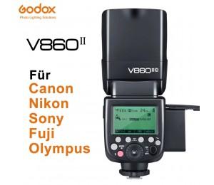 Godox V860II-C V860II-N V860II-S V860II-F V860II-O TTL HSS Li-Ion Batterie Speedlite Flash für Canon Nikon Sony Fuji Olympus
