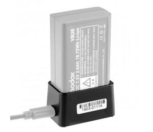 Godox VC26 USB Batterie Ladegerät DC 5V Eingang DC 8,4 V Ausgang für Lade Godox V1S V1C V1N V1F v1O V1P Runde Kopf-Batterie