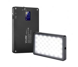 VIJIM VL-1 Mini Led Video Licht Fotografie Beleuchtung Vlog 96 Perlen 3500 k-5700 k für Smart Telefon Ein plus DSLR Kamera Sony A6400