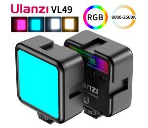 Ulanzi VL49 Mini RGB LED Video Licht 2700K-9000K Auf Kamera Füllen Licht Fotografie Beleuchtung Live tiktok Vlog Licht lampe