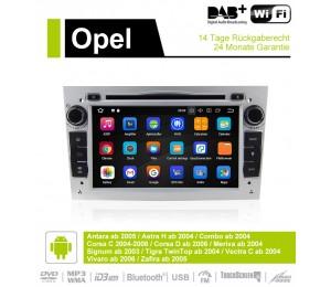 7 Zoll Android 9.0 Autoradio / Multimedia 4GB RAM 32GB ROM Für Opel Astra Vectra Antara Zafira Corsa GPS Navigation Radio Farbe Silber