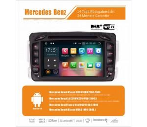 2din Android 8.0 Octa-core 4 GB RAM 32GB Car DVD GPS Für Benz C-klasse W203 W209 G-klasse W463 Eine Klasse W168 Vito