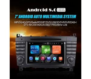 2din Android 8.0 Octa-core 4GB RAM 32GB Car DVD Für c-klasse W203 2004-2007 Clk W209 2005 A-w168 1998 2002 Clk-c209