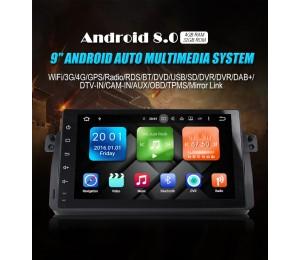 1 din Android 8.0 Octa-core 4 GB RAM 32GB Car DVD Für BMW E46 318 320 Autoradio TUPFEN M3 3 serie mit WIFI Bluetooth DAB +