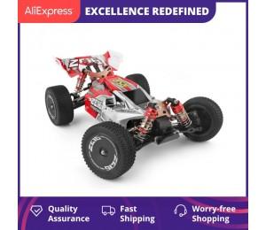 WLtoys 144001 2,4G Racing Fernbedienung Auto Wettbewerb 60 km/h Metall Chassis 4wd Elektrische RC Formel Auto für Weihnachten geschenk
