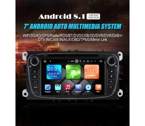 2 Din Android 8.1 Quad-core 2GB RAM 16GB flash AutoRadio für Ford Focus(2009-2010)
