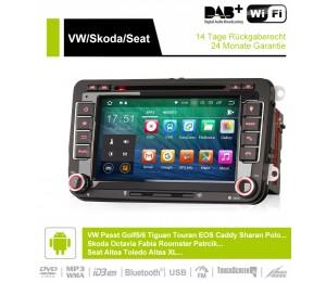 7 Zoll Android 9.0 Autoradio / Multimedia 2GB RAM 16GB ROM Für VW GOLF JETTA POLO Touran COS, Skoda Fabia octavia, Seat leon Altea...