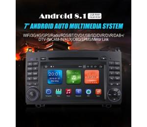 7'' 2 Din Android 8.1 Quad-Core 2 GB RAM 16GB Auto DVD für Benz