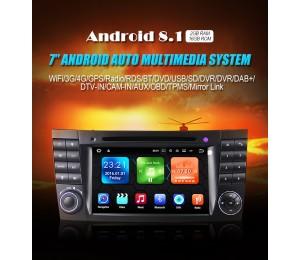 Android 8.1 Quad-Core 2GB RAM 16GB ROM AutoRadio für Mercedes Benz W219 W211 W463