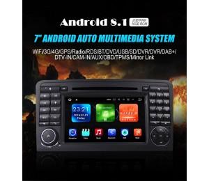 Android 8.1 Quad-core 2G RAM 16G flash Car DVD Player Radio für W164 X164 DAB 3G wifi bluetooth