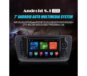 NEU 7'' Android 8.1.0 2GB+16GB 1024*600 HD Capacitive Touch Screen Autradio Für Seat IBIZA