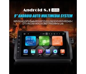 Android 8.1 Quad-core 2GB RAM 16GB flash Autoradio Player Radio für BWM 3Series M3 75 E46 3er MG ZT