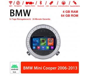 7 Zoll Android 10.0 Autoradio / Multimedia 4GB RAM 64GB ROM Für BMW Mini Cooper 2006-2013 Mit WiFi NAVI Bluetooth USB