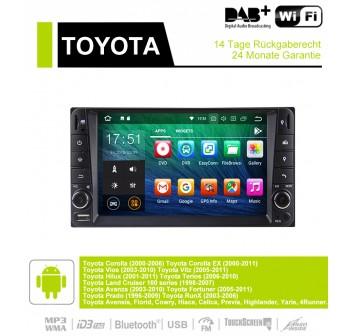 7 Zoll Android 9.0 Autoradio / Multimedia 2GB RAM 16GB ROM Für Toyota Corolla Vios Land Cruiser Avanza Prado
