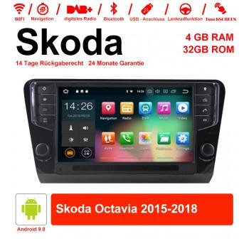 9'' Android 9.0 Octa-core 4GB+32GB 1024*600 HD Capacitive Touch Screen Autoradio Für Skoda Octavia
