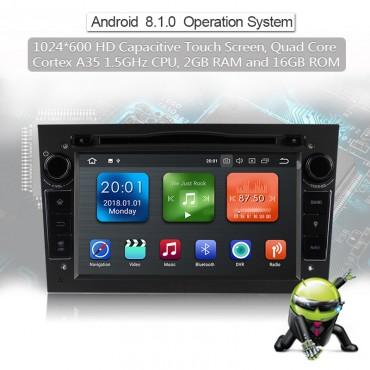 2din Android 8.1 Octa-core 2GB RAM 16GB ROM Autoradio Für Opel Astra Vectra Antara Zafira Corsa GPS Navigation Radio Farbe Grau