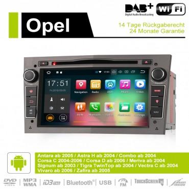 7 Zoll Android 9.0  Autoradio / Multimedia 4GB RAM 32GB ROM Für Opel Astra Vectra Antara Zafira Corsa GPS Navigation Radio Farbe Grau