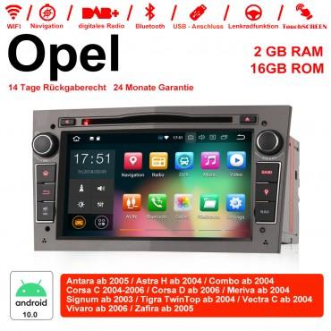2din Android 10.0 Octa-core 2GB RAM 16GB ROM Autoradio Für Opel Astra Vectra Antara Zafira Corsa GPS Navigation Radio Farbe Grau