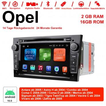 2din Android 10.0 Octa-core 2GB RAM 16GB ROM Autoradio Für Opel Astra Vectra Antara Zafira Corsa GPS Navigation Radio Farbe Schwarz