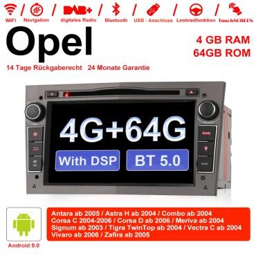 7 Zoll Android 9.0 Autoradio / Multimedia 4GB RAM 64GB ROM Für Opel Astra Vectra Antara Zafira Corsa Mit WiFi NAVI DSP Bluetooth 5.0 Grau
