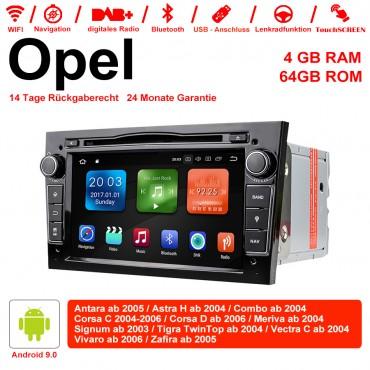 7 Zoll Android 9.0 Autoradio / Multimedia 4GB RAM 64GB ROM Für Opel Astra Vectra Antara Zafira Corsa GPS Navigation Radio Farbe Schwarz