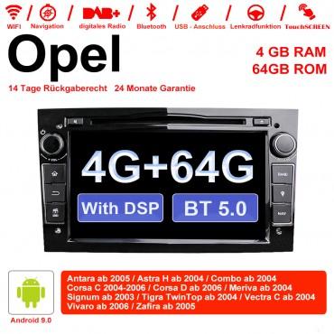 7 Zoll Android 9.0 Autoradio / Multimedia 4GB RAM 64GB ROM Für Opel Astra Vectra Antara Zafira Corsa Mit WiFi NAVI DSP Bluetooth 5.0 Schwarz