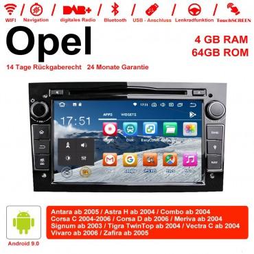 7 Zoll Android 9.0 Autoradio / Multimedia 4GB RAM 64GB ROM Für Opel Astra Vectra Antara Zafira Corsa MIT dem verbauten DSP ( Digital Sound Prozessor ) und Bluetooth 5.0 Schwarz