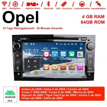 7 Zoll Android 10.0 Autoradio / Multimedia 4GB RAM 64GB ROM Für Opel Astra Vectra Antara Zafira Corsa MIT dem verbauten DSP ( Digital Sound Prozessor ) und Bluetooth 5.0 Schwarz