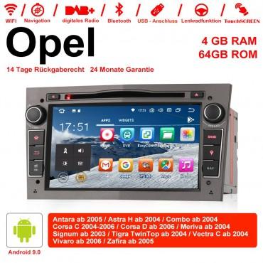 7 Zoll Android 9.0 Autoradio / Multimedia 4GB RAM 64GB ROM Für Opel Astra Vectra Antara Zafira Corsa MIT dem verbauten DSP ( Digital Sound Prozessor ) und Bluetooth 5.0 Grau