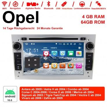 7 Zoll Android 10.0 Autoradio / Multimedia 4GB RAM 64GB ROM Für Opel Astra Vectra Antara Zafira Corsa MIT dem verbauten DSP ( Digital Sound Prozessor ) und Bluetooth 5.0 Silber