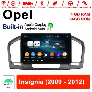 9 Zoll Android 10.0 Autoradio / Multimedia 4GB RAM 64GB ROM Für Opel Insignia 2009 - 2012 Mit WIFI NAVI Built-in Carplay
