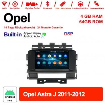 7 Zoll Android 10.0 Autoradio / Multimedia 4GB RAM 64GB ROM Für Opel Astra J 2011-2012 Built-in Carplay / Android Auto