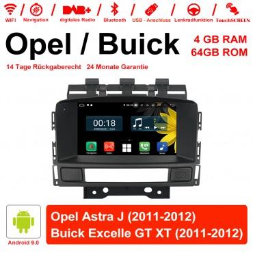 7 Zoll Android 9.0 Autoradio / Multimedia 4GB RAM 64GB ROM Für Opel Astra J / Buick Excelle GT/XT 2011-2012 Mit WiFi NAVI USB