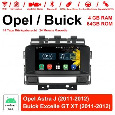 7 Zoll Android 10.0 Autoradio / Multimedia 4GB RAM 64GB ROM Für Opel Astra J / Buick Excelle GT/XT 2011-2012 Mit WiFi NAVI USB