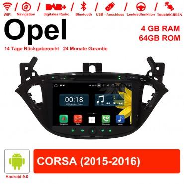 8 Zoll Android 9.0 Autoradio / Multimedia 4GB RAM 64GB ROM Für Opel CORSA Mit WiFi NAVI USB