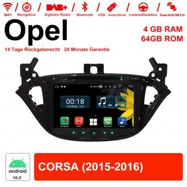 8 Zoll Android 10.0 Autoradio / Multimedia 4GB RAM 64GB ROM Für Opel CORSA Mit WiFi NAVI USB