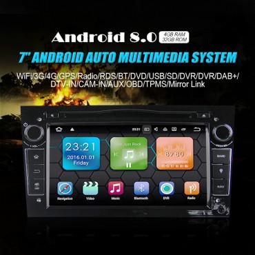2 din Android 8.0 Octa-core 4 GB RAM 32GB Car DVD Für Opel Astra Vectra Antara Zafira Corsa GPS Navigation Radio Farbe Schwarz