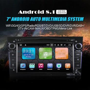 2din Android 8.1 Octa-core 2GB RAM 16GB ROM Autoradio Für Opel Astra Vectra Antara Zafira Corsa GPS Navigation Radio