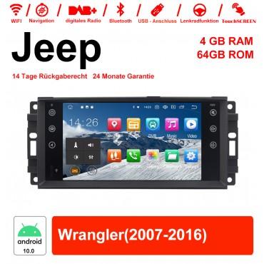 7 Zoll Android 10.0 Autoradio / Multimedia 4GB RAM 64GB ROM Für Jeep Wrangler