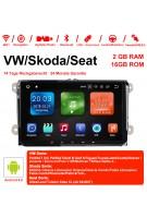 9 Zoll Android 9.0 Autoradio / Multimedia 2GB RAM 16GB ROM Für VW Magotan Passat Jetta Golf Tiguan Touran Seat Skoda
