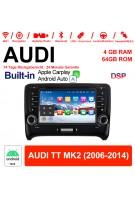7 Zoll  Android 10.0 Autoradio / Multimedia 4GB RAM 64GB ROM  Für AUDI TT MK2 Built-in Carplay / Android Auto