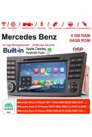 7 Zoll Android 10.0 Autoradio / Multimedia 4GB RAM 64GB ROM Für E-Klasse W211,CLS Klasse W219,G-Klasse W463 Built-in CarPlay Android Auto
