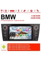 7 Zoll Android 9.0  Autoradio / Multimedia 4GB RAM 64GB ROM Für 3 Serie BMW E90 E91 E92 E93 318 320 325  Manuelle Klima klimaanlage
