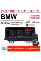 10.25 Zoll Qualcomm Snapdragon 662 8 Core Android 11.0 4G LTE Autoradio / Multimedia USB WiFi Navi Carplay Für BMW 1er E81 E82 E87 E88 (2006-2012)